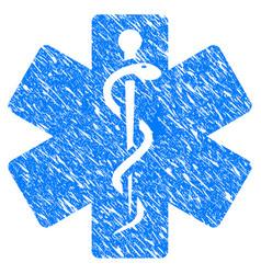 Life star medical emblem grunge icon vector
