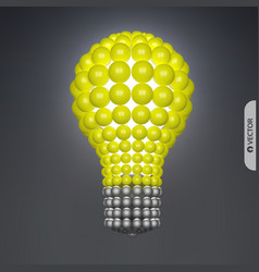 lightbulb idea concept 3d spheres composition for vector image