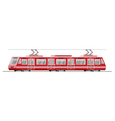 modern tram train passenger streetcar isolated vector image