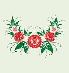 Ornament in style of russian national tradition vector