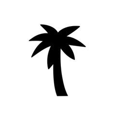 palm black icon vector image