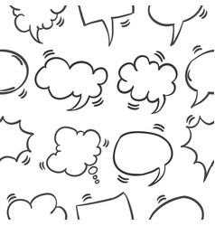 Pattern of speech bubble style vector