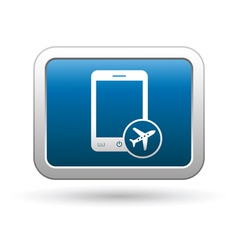 Phone with in plane mode icon vector