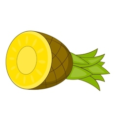 Pineapple icon cartoon style vector