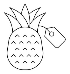 Pineapple with price tag icon summer sale related vector