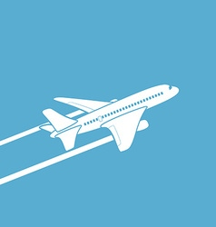Plane silhouette against the sky vector