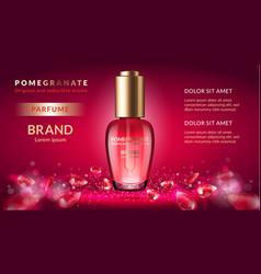 Pomegranate perfume ads vector