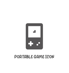 Portable game icon simple flat style vector