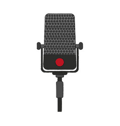 Recording microphone icon image vector