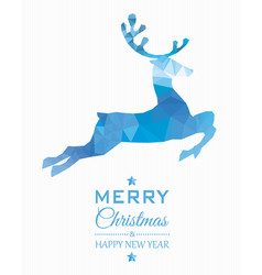Reindeer christmas card vector