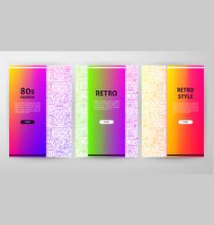 retro brochure web design vector image