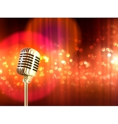 Retro Microphone Vintage Background Poster vector
