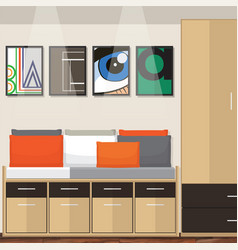 room idea design vector image