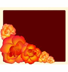 roses with border vector image