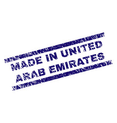 Scratched textured made in united arab emirates vector