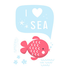 sea scandinavian vector image