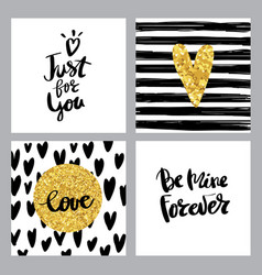 Set calligraphy postcard poster love vector
