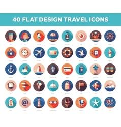 Set modern flat design travel vacation vector