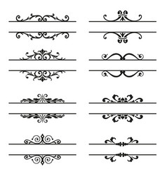 set of decorative florish elements vector image