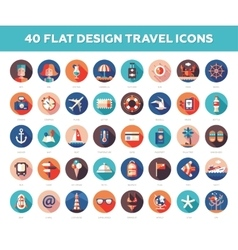 Set of modern flat design travel vacation vector