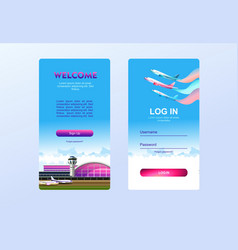 Sign up sign in form vector