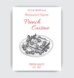 Sketch - french toast card vector