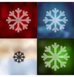 Snowflake icon on blurred background vector