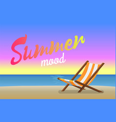 summer mood beautiful sandy beach in evening time vector image