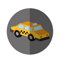 Taxi service isometric icon vector