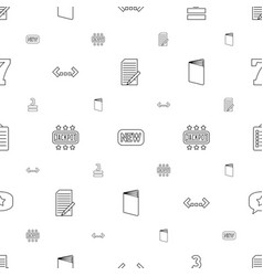 text icons pattern seamless white background vector image