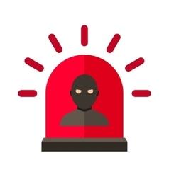 thief alert vector image