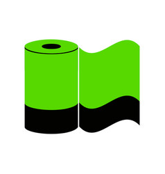 toilet paper sign green 3d icon with vector image