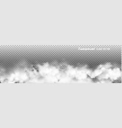 transparent clouds panorama vector image
