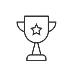 trophy line icon on a white background vector image