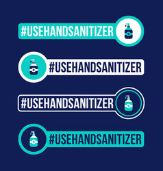 use hand sanitizer prevention covid-19 icon vector image