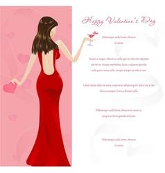 Valentines glamour background vector