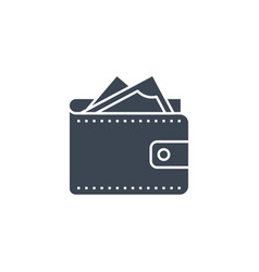 wallet related glyph icon vector image