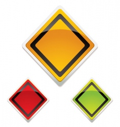 warning sign trio vector image