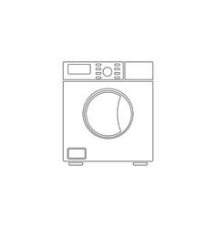 Washing machine flat icon vector