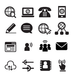 Website communication icon vector