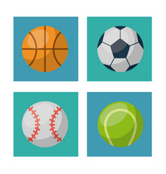 white background with squares set of ball of vector image
