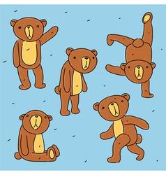 Bear toy set vector image