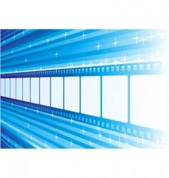 blue film vector image