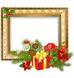 Christmas ornament frame vector