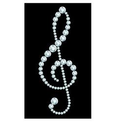 Diamond treble clef sign vector