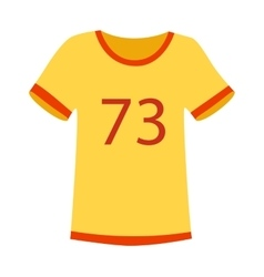 Yellow sport t-shirt vector image