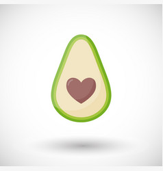 avocado love flat icon vector image
