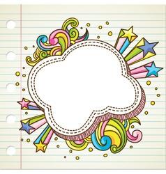 bubble doodle vector image