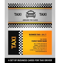 Business cards taxi vector image