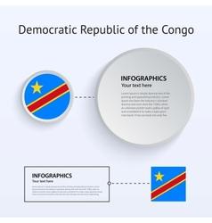 Democratic Republic Congo Country Set of Banners vector image